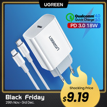 Ugreen USB Wall Charger Adapter Mobile Phone Fast Charger for Samsung Huawei Quick Charge 4 Travel Charger for Xiaomi Charger(China)