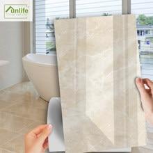 Funlife – autocollant de sol en PVC, NOUVELLE série MAISON, 30x60cm, crème claire, marbre, imperméable, pour carrelage, cuisine, salle de bains
