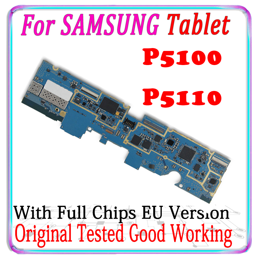 Original pour Samsung Galaxy Tab 2 P5110 P5100 Wifi & 3G carte mère pour Samsung Galaxy Tab 2 P5110 P5100 carte mère Version ue