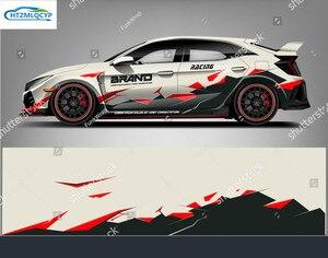 Автомобильная наклейка спортивный хэтчбек обертывание дизайн абстрактные гонки для Honda Civic персонализированные пользовательские универса...