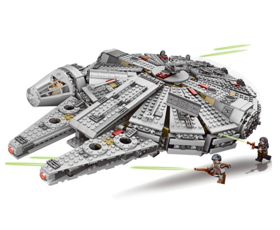 1381Pcs Millenniums Falcon Legoinglys StarWars Set Bricks Models & Building Blocks Toys for Children Starwars  10647 05007