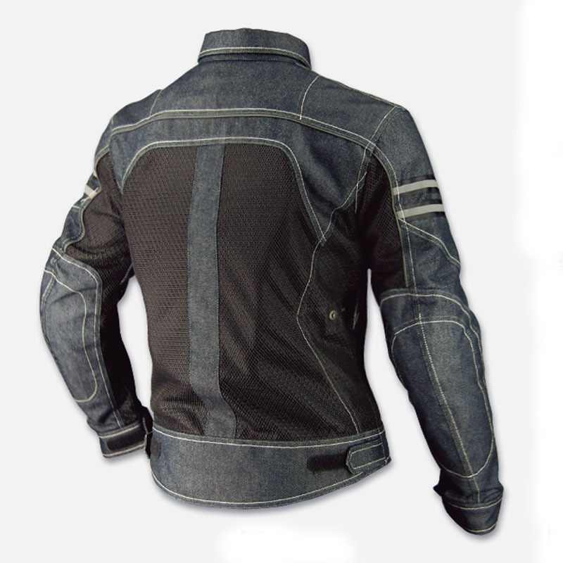 Neue Komine Motorrad Jacke JK-006 Denim Mesh Racing Anzug Lokomotive Anti-herbst Kleidung Motorrad Reiten Kleidung Moto Jacke