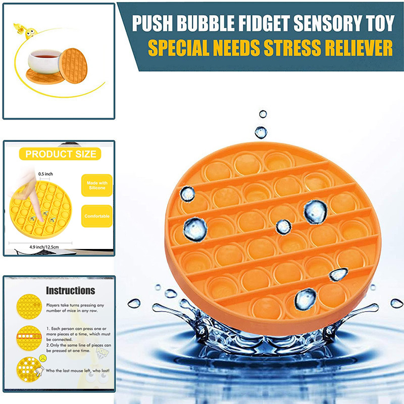 Push Pop It Bubble Sensory Fidget Toys Autism Need Squishy Stress Reliever Toy Adult Kid Anti