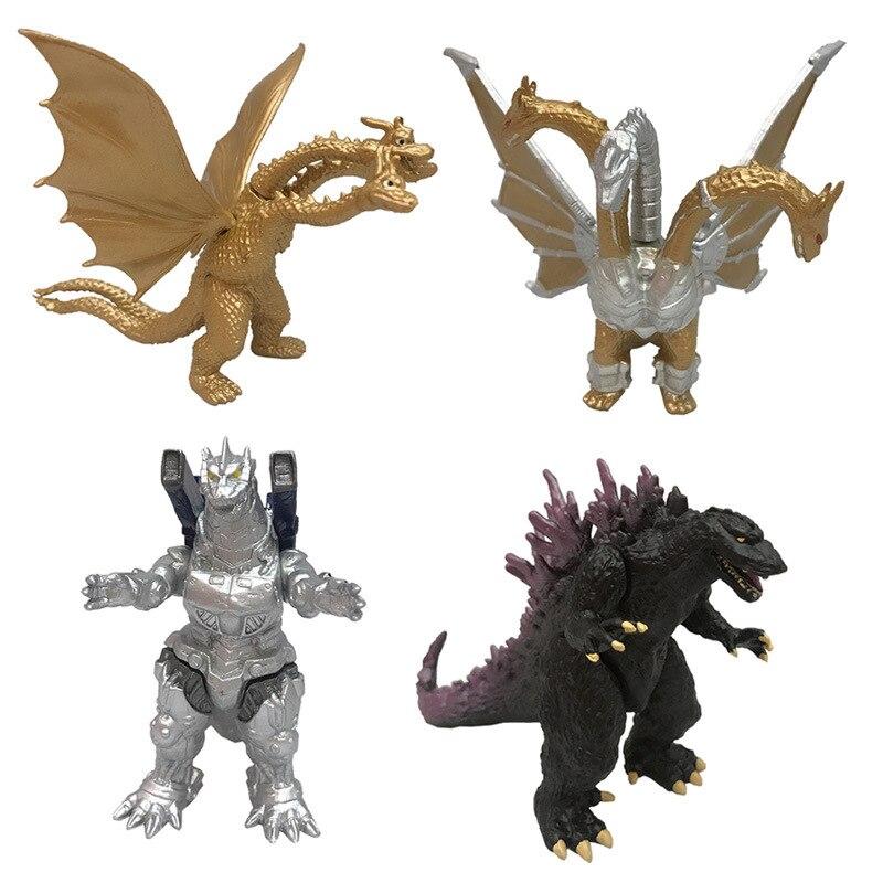 4pcs/set Godzilla Figure King Gidora Monster Action Figure Movable Doll Model Toy Jongens Kid Kind Speelgoed Anime Movie 7-10CM