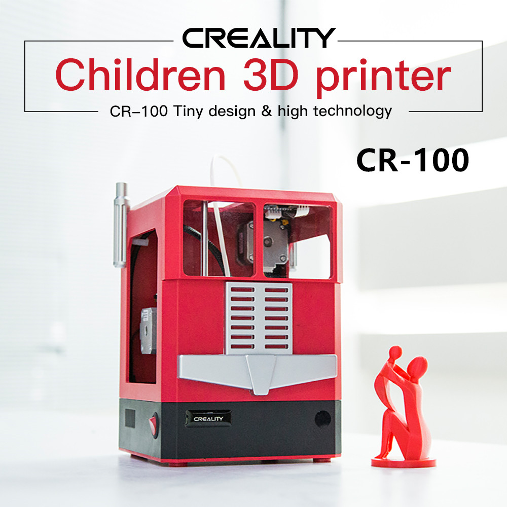 Newest CR-100 Mini 3D Printer 100*100*80 mm Printer Szie Gift for Children Kid Cute 3D Printer Applied for Home and School Needs image