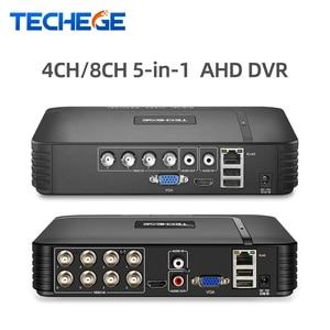 Image 1 - Techege 4 kanal 8 kanal AHD DVR AHD M 720P/960H CCTV DVR 4CH 8CH Mini hibrid HDMI DVR destek IP Analog kamera rusya stok