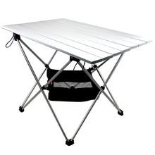 Alüminyum alaşım katlanır kamp masa Roll Top hafif taşınabilir kararlı çok yönlü kamp masası katlanır masa