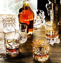 Crystal glass whiskey glass foreign wine glass classic drinking glass brandy glass bar wine set beer glass