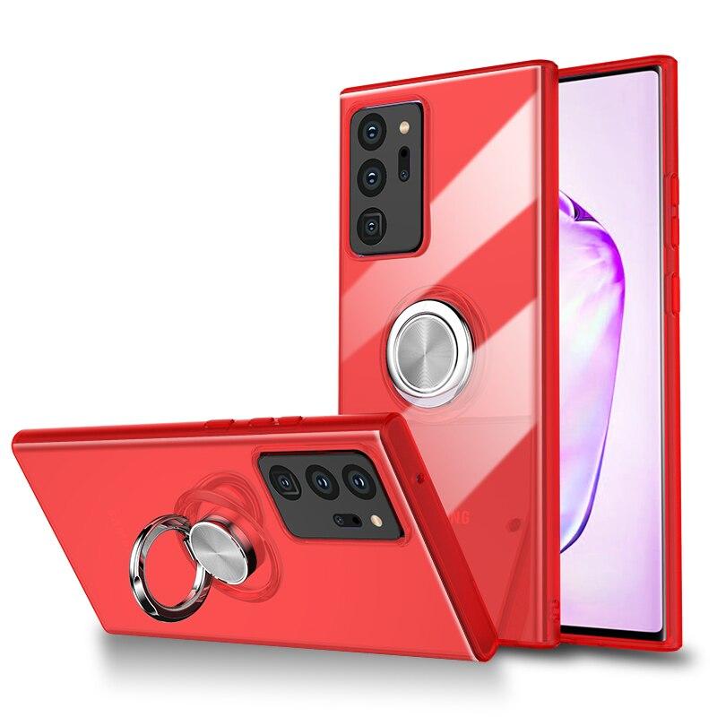 Coque de téléphone Ultra-mince antichoc, étui de luxe pour Xiaomi Redmi Note 9 SE 7 Pro, Anti-chute, aimant, étui avec anneau de doigt