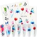 1 шт., наклейки с бабочками для ногтевого дизайна, летние цветы, лист, милые кошки, переводные наклейки, слайдер, маникюрные декорации, ...