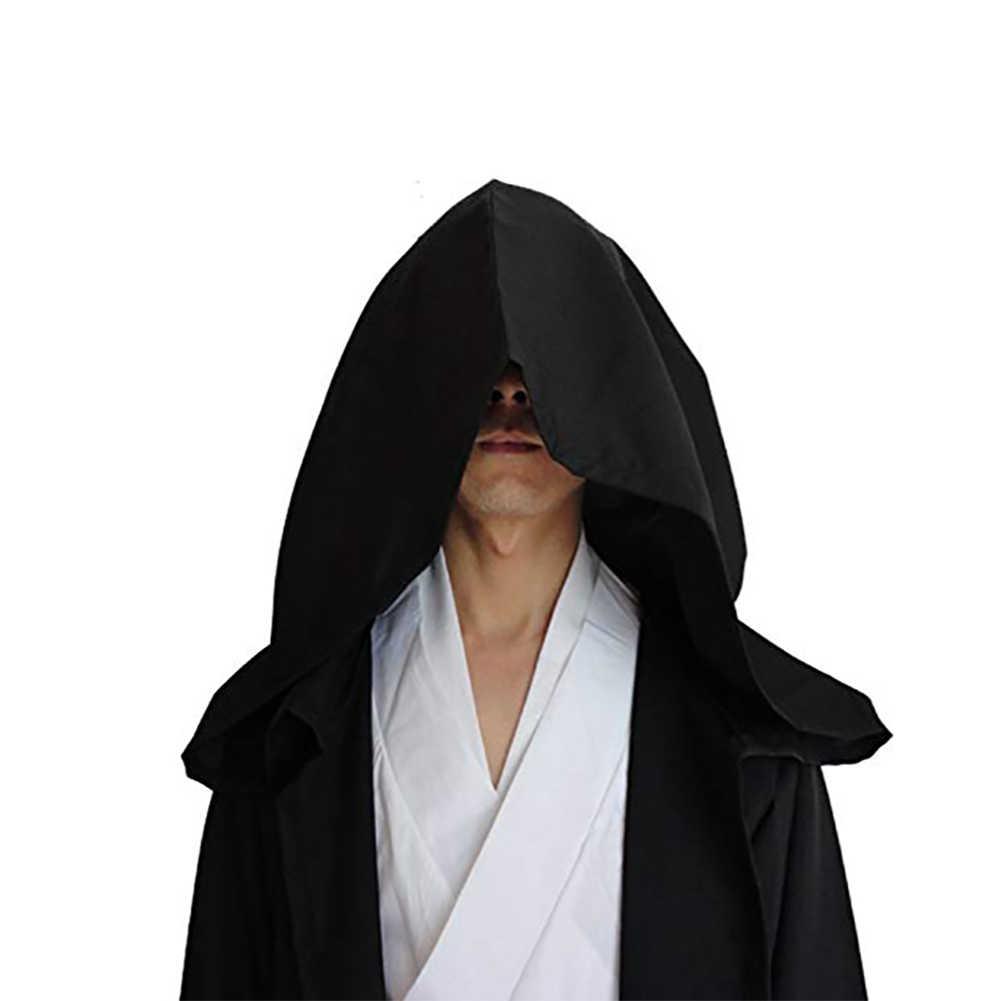 Крутой костюм для косплея из фильма «волшебник рыцарь»; нарядные вечерние мужские туники на Хэллоуин; накидка с капюшоном; накидка; мягкая однотонная накидка
