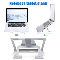 Laptop Stand Ventilated Portable Notebook Riser Multi Angle Adjustable Anti Slip Mount ING SHIPPING