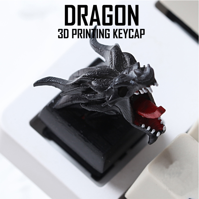 DIY Color Dragon keycaps for Mechanical Keyboard High Precision 3D Printing Personality Light Key Caps Photosensitive Resin in Mice Keyboards Accessories from Computer Office