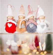2020 Christmas Decorations Pendant Christmas Cute Angel Plush Doll Christmas Tree Creative Decoration Charm(China)