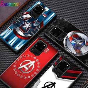 Image 2 - Marvel logo for Samsung S20 FE Ultra Plus A91 A81 A71 A51 A41 A31 A21S A72 A52 A42 A02S Soft Black Phone Case