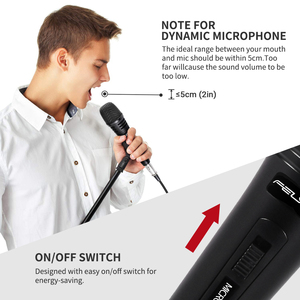 Image 3 - FELYBY Dynamic Microphone Cardioid Metal Wired Handheld Vocal Mic Plug and play For Karaoke Conference Speech Live