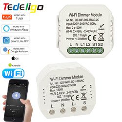 Smart Home WiFi Light Dimmer module Switch 1/2gang 220V~240V interruptor Tuya APP Remote Control Voicecontrol Work With Alexa