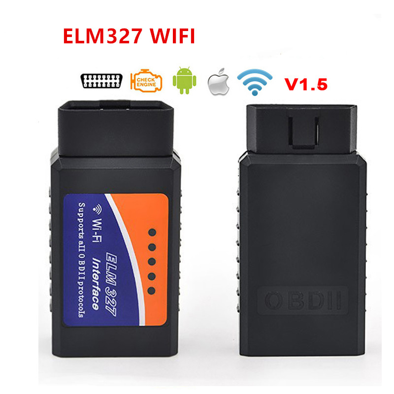 ELM327 <font><b>V1.5</b></font> <font><b>Bluetooth</b></font>/<font><b>Wifi</b></font> OBD2 <font><b>V1.5</b></font> Mini <font><b>Elm</b></font> <font><b>327</b></font> <font><b>Bluetooth</b></font> Auto Diagnostic Tool OBDII for Android/IOS/Windows image