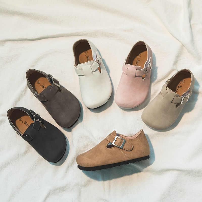 어린이 신발 소프트 코르크 Pu 가죽 신발 소녀 어린이 신발 소년 스 니 커 즈 봄가 2020 짧은 패션 어린이 캐주얼 신발
