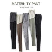 Leggings Pregnancy-Clothes Premama Maternity-Pants Women Adjustable Slim Soft Mujer Embarazada
