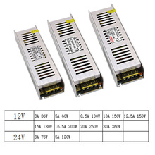 цена на SMPS 24 12 V Volt LED Switching Power Supply AC-DC 24V AC DC 220v to 12V 3A 5A 10A 15A 30A Long Power Supply SMPS Led Driver