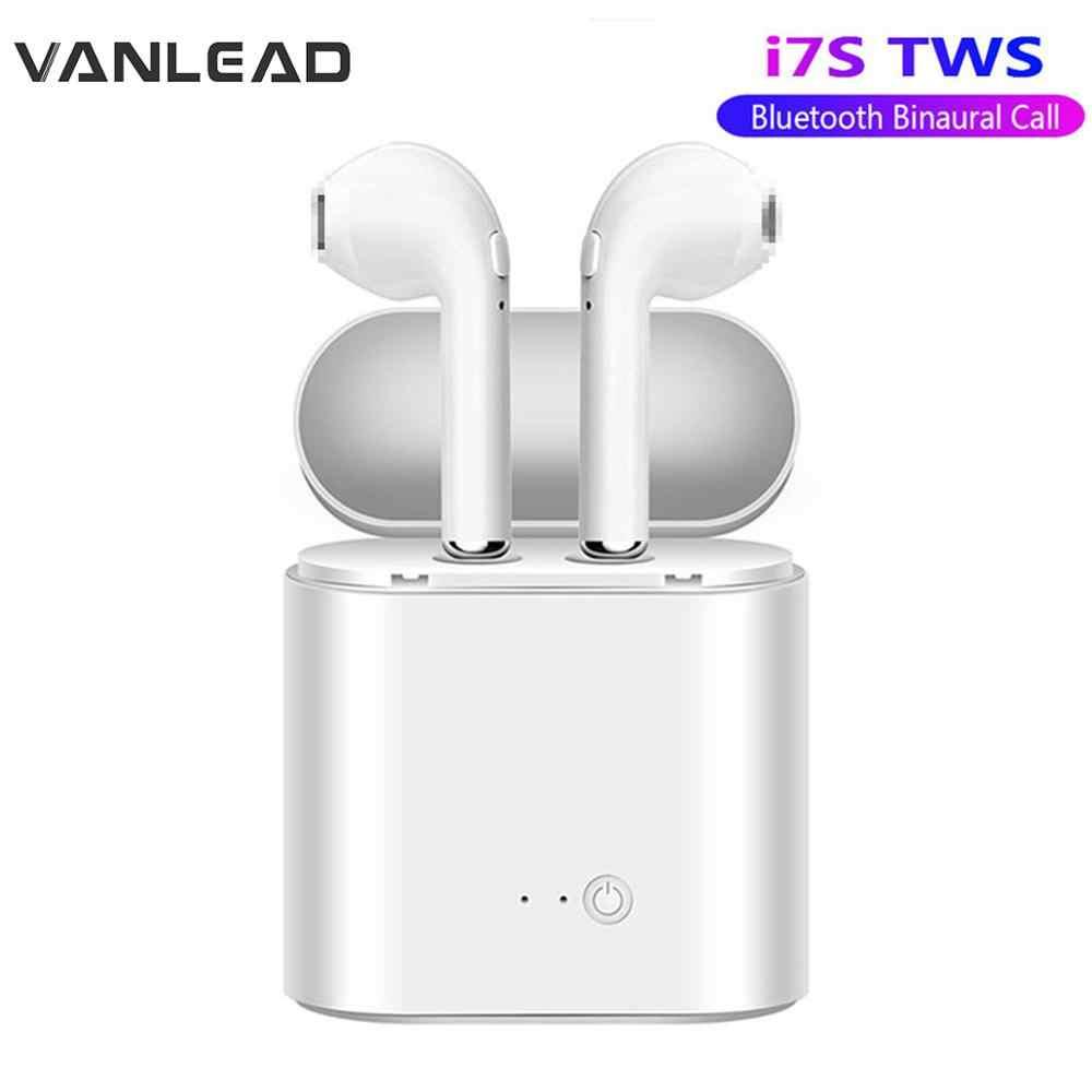 หูฟังบลูทูธ i7s TWS ชุดหูฟังไร้สายชุดหูฟังสเตอริโอหูฟังสเตอริโอสำหรับโทรศัพท์สมาร์ทหูฟังพร้อม MIC หูฟัง