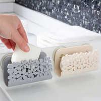 Kitchen Bathroom Drying Rack Toilet Sink Suction Sponges Holder Rack Suction Cup Dish Cloths Holder Clean Storage Basket