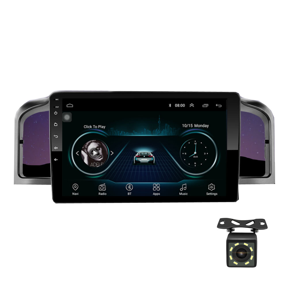 Car navigation 9 <font><b>inch</b></font> Android 8.1 quad core support mirror link DAB <font><b>2DIN</b></font> car radio multimedia video player for Lifan 620/Solano image