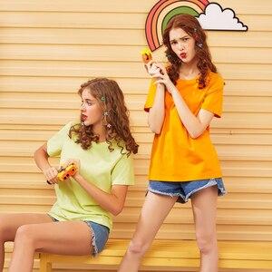 Image 2 - Metersbonwe Neue Baumwolle Harajuku Ästhetik Tshirt Feste Farbe Kurzarm Tops & Tees Fashion Casual Paar Grundlegende T Hemd