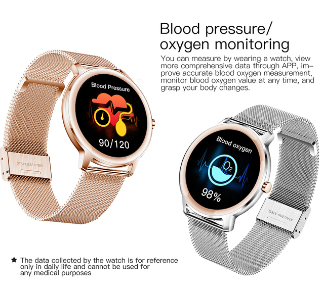 Super Slim Fashion Women Smart Watch 2021 Full Touch Round Screen Smartwatch for Woman Heart Rate Monitor For Android and IOS 4