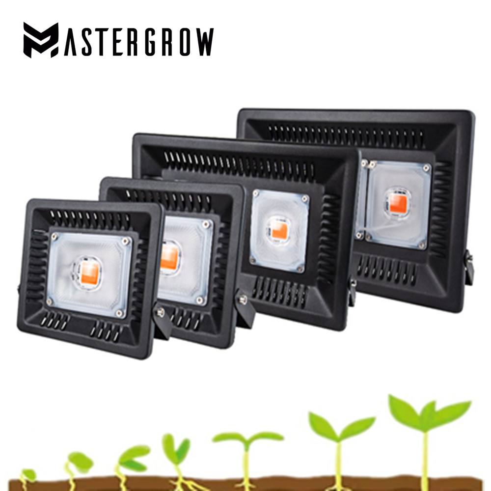 Full Spectrum LED Grow Light Waterproof IP67 50W 100W 200W 300W COB Growth Flood Light For Plant Indoor Hydroponic Greenhouse