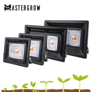 Full Spectrum LED Grow Light Waterproof IP67 50W 100W 200W 300W COB Growth Flood Light For Plant Indoor Hydroponic Greenhouse