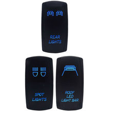 Per Defender Comandante Maverick Interruttore A Bilanciere 5-pin Nero retroilluminazione Blu(China)