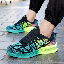 цены Man woman breathable Air Mesh Knit Trainers Tennis Sports Sneakers couples outdoor Travel Walking Jogging Footwear light shoes