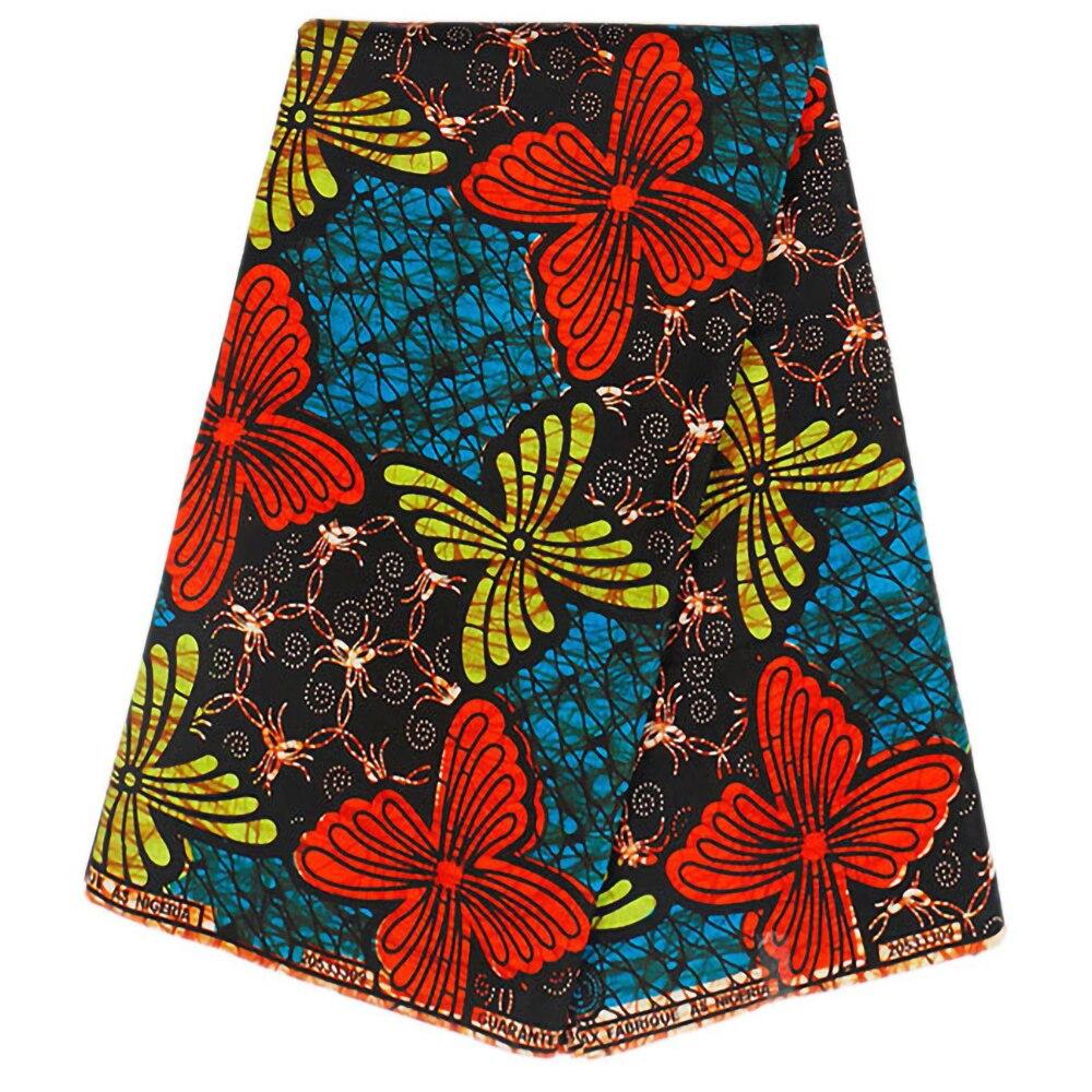 2020 New Design African Print Real Wax Fabric 6 Yards/Piece Pagne Wax Kwanzaa Fabric