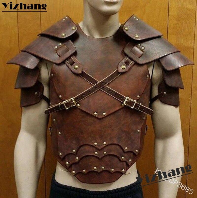 Yizhang Medieval Viking Gladiator Samurai Battle Knight Pauldrons Shoulder Armor Renaissance Vintage Party props Cosplay(China)