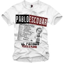 Hot Koop Nieuwe Mannen T-shirt Pablo Escobar Medellin Scarface T-shirt Hip Hop Tees Tops Streetwear Aa(China)