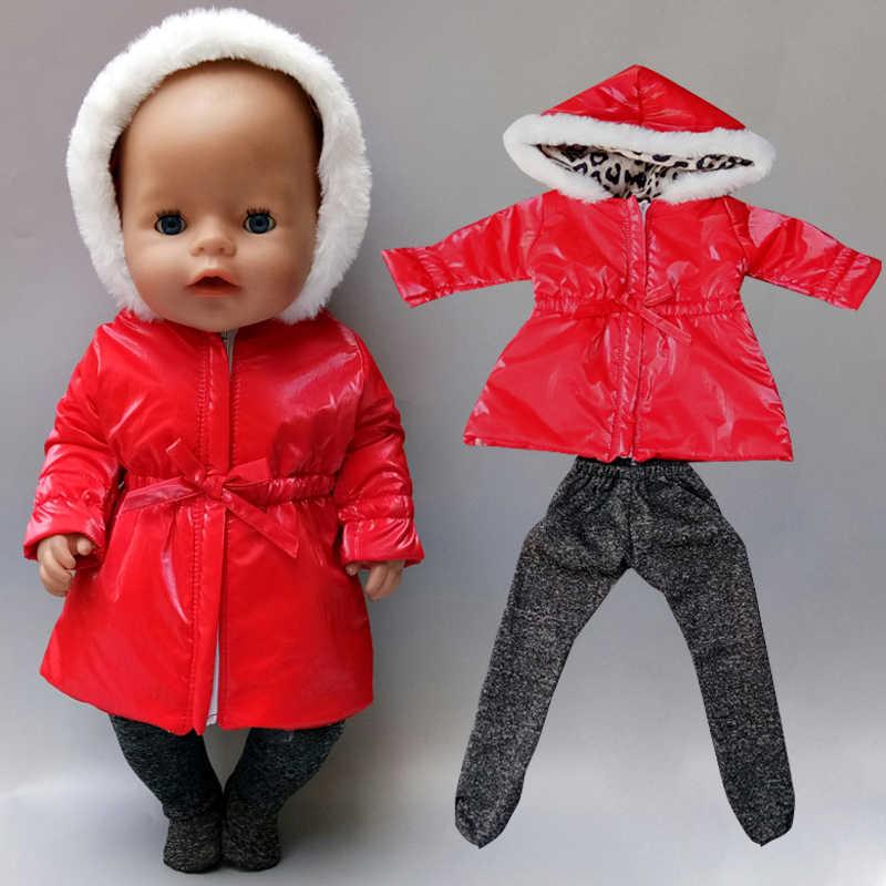 Bebek yeni doğan bebek tulum ile şapka 18 inç oyuncak bebek giysileri ceket kot takım elbise