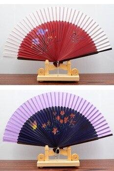 Mejor estilo chino baile boda fiesta encastre seda plegable mano abanico de...