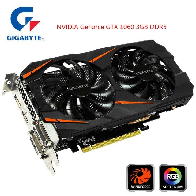 Gigabyte NVIDIA GeForce Scheda grafica GTX 1060 FORZA del vento OC 3GB di Schede Video Integrato con 3GB di GDDR5 Memoria 192bit per PC
