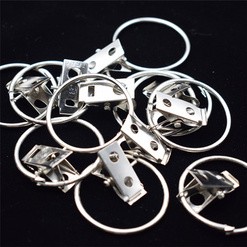 1/5 Pcs Sturdy and Durable Window Curtain Hook Clips Home Window Accessories Solid Iron Drapery Hook Clips Shower Curtain Rings image