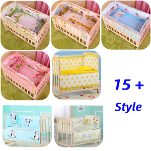 Image 2 - Jogo de cama 5 peças, berço do bebê, conjunto de cama para crianças, 100x60cm de bebê recém nascido, berço, amortecedor, bebê conjunto de cama de bebê cp01
