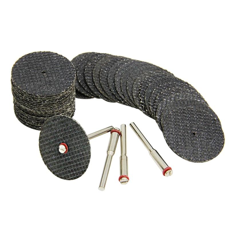 40 db 32 mm-es üvegszál megerősített vágókorong levágott kerék Dremel kiegészítők Csiszolószerszámok forgószerszámhoz Mini fúró