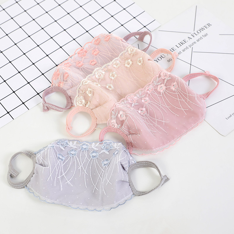 20 Piece/Pack Women Fashion Lace Mouth Mask Winter Warm Cute Mouth Mask Breathable Lace Mouth Mask For Women
