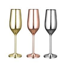 200 мл бокал для красного вина из нержавеющей стали, вечерние бокалы для пива, сока, шампанского