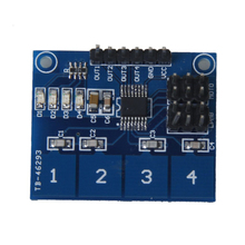 цена на TTP224 4-channel digital touch sensor module Capacitive touch switch blue