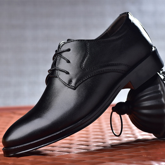 2020 new men dress shoes high quality leather formal shoes men big size 38-48 oxford shoes for men fashion office shoes men 1