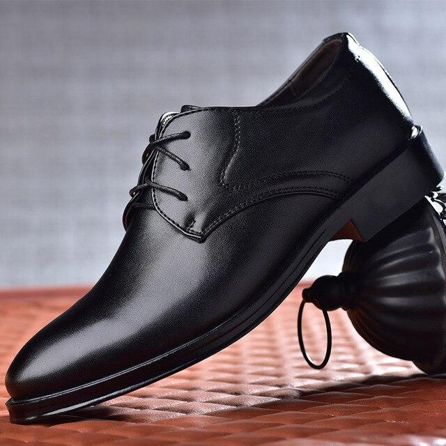 2020 new men dress shoes high quality leather formal shoes men big size 38-48 oxford shoes for men fashion office shoes men