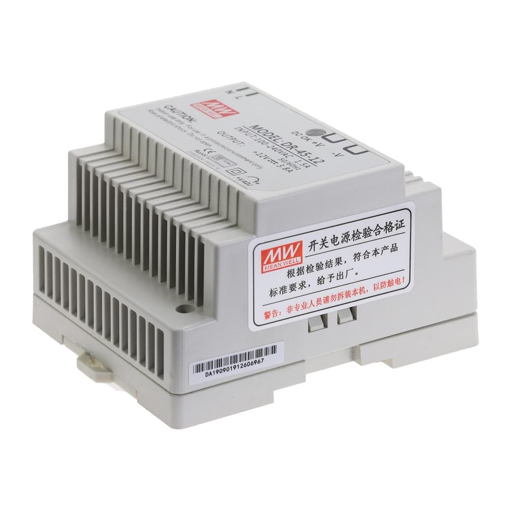DR-15 DR-45 DR-60 15W 45W 60W Single Output 5V 12V 15V 24V Industrial Din Rail Switching Power Supply DR-15/45/60-5/12/15/24-4