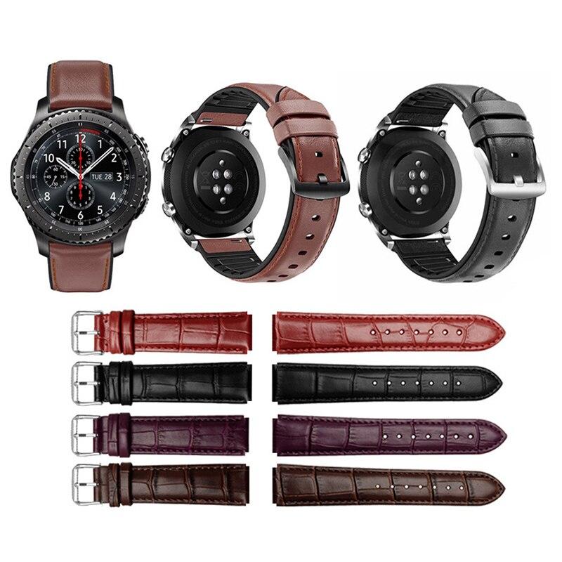 Bracelet For Huawei Watch GT2 Watch Strap 22mm Leather Crocodile Strap Watchband  For Huawei Watch GT2 Wriststrap Accosseries